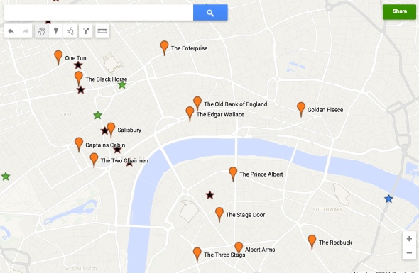 The Kenna London pub map