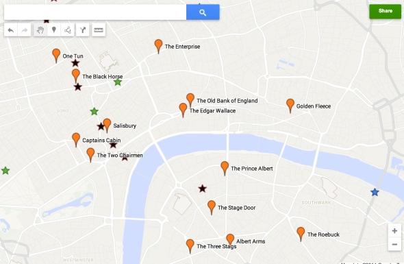 The Kenna London pub map