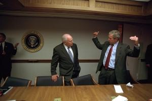 George Bush gets down