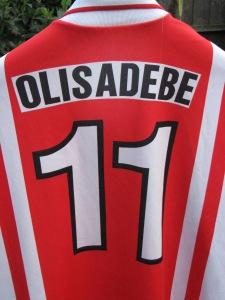 Emmanuel Olisadebe shirt - back