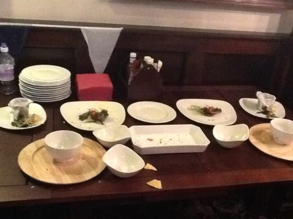 Empty buffet