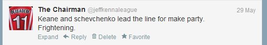 Keane and Sheva tweet