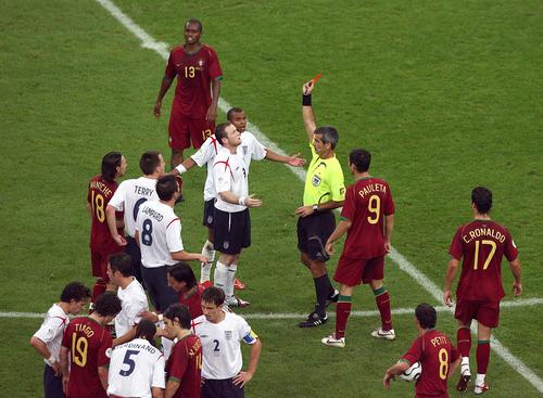 Rooney sent off 2006