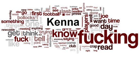 Joe Kinnear Kenna word cloud1